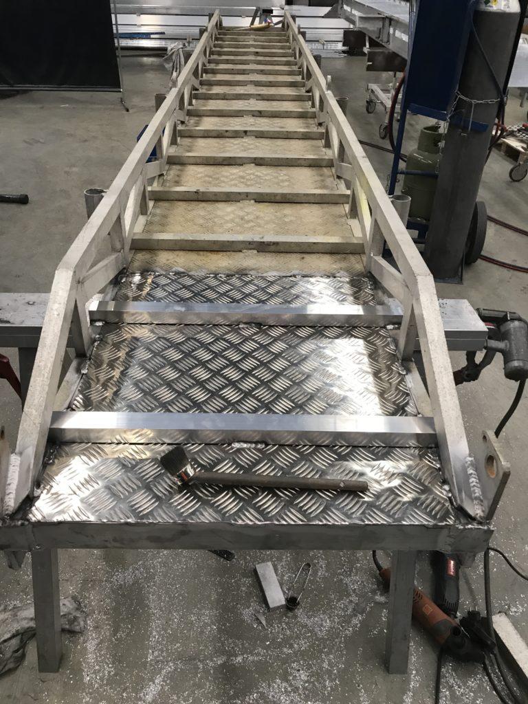 Damaged gangway