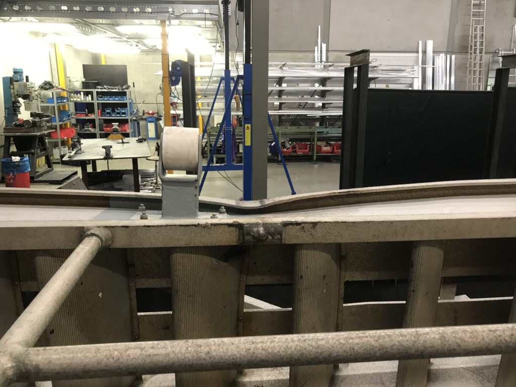Damaged accommodation ladder